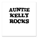 AUNTIE KELLY ROCKS Creeper Square Car Magnet
