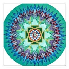 Sri Yantra Square Car Magnet