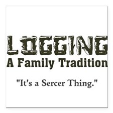Family Tradition Square Car Magnet
