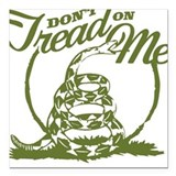 Dont Tread Snake Square Car Magnet