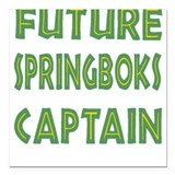 Future Springboks Captain Square Car Magnet