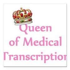 Medical Transcription Square Car Magnet