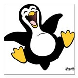 Happy Penguin Creeper Square Car Magnet