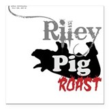 Riley Pig Roast 12 Kids Square Car Magnet