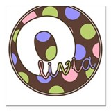 Olivia - Square Car Magnet