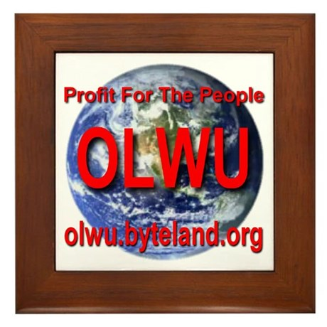 On-Line Workers Union Framed Tile