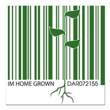 Barcode Square Car Magnet