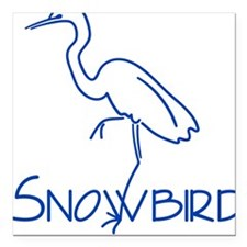 Simple Snowbird Square Car Magnet