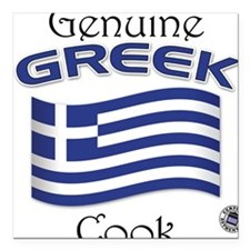 Genuine Greek Cook Square Car Magnet