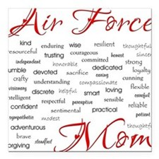 Air Force Mom Poem of words Square Car Magnet