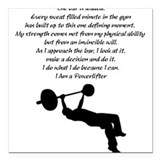 Powerliftes Creed Square Car Magnet