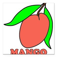 mango Square Car Magnet