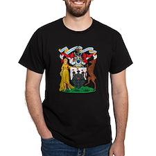 Edinburgh Coat Of Arms Black T-Shirt