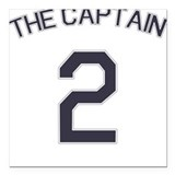 #2 - The Captain Square Car Magnet