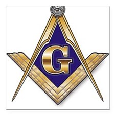 Masonic Square Car Magnet