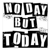 No Day Square Car Magnet