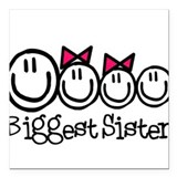 Biggest Sister Square Car Magnet