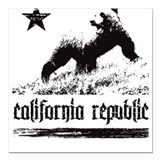 California Square Car Magnet