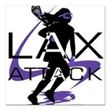 Lacrosse Square Car Magnet