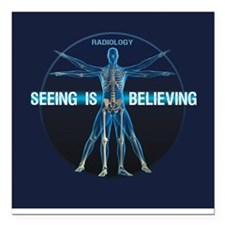 Seeing is Believing Square Car Magnet