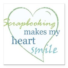Scrapbooking makes my heart smile Square Car Magne