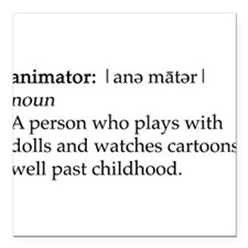 Animator Square Car Magnet