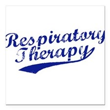 Respiratory Therapy Square Car Magnet