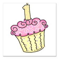 First Birthday Cupcake Creeper Square Car Magnet