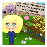 Harvest My Crops Square Car Magnet