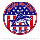 Gracie Red, White and Blue GE Square Car Magnet