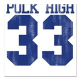 Polk High Al Bundy Square Car Magnet