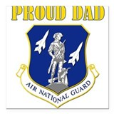 Proud dad Square Car Magnet