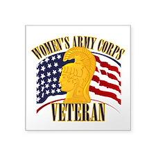 """WAC Veteran Square Sticker 3"""" x 3"""""""