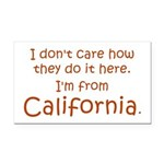 From California Rectangle Car Magnet