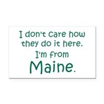 From Maine Rectangle Car Magnet