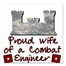 Engineer Wife-ACU Square Car Magnet