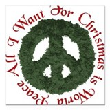 Christmas World Peace Square Car Magnet