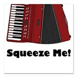 Accordion Squeeze Box Square Car Magnet