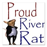 Proud River Rat Poker Square Car Magnet