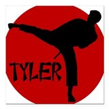 Tyler Karate Square Car Magnet