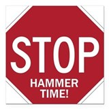 Hammer Time Square Car Magnet