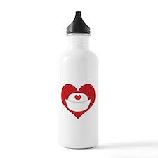 Nurse Heart Sports Water Bottle