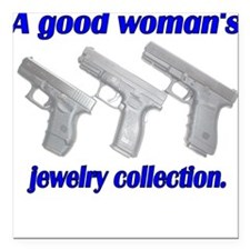 A Good Woman's jewelry collec Square Car Magnet