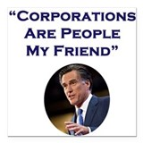 Romney & Corporations Square Car Magnet