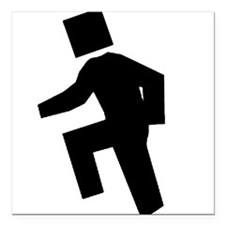 Box Head Black Square Car Magnet