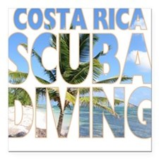 Costa Rica Scuba Diving Square Car Magnet
