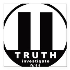 Investigate 9/11 Square Car Magnet