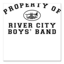 River City Boys' Band Square Car Magnet