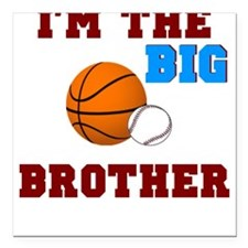 Big brother sport Square Car Magnet