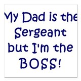 Sergeant Boss Square Car Magnet